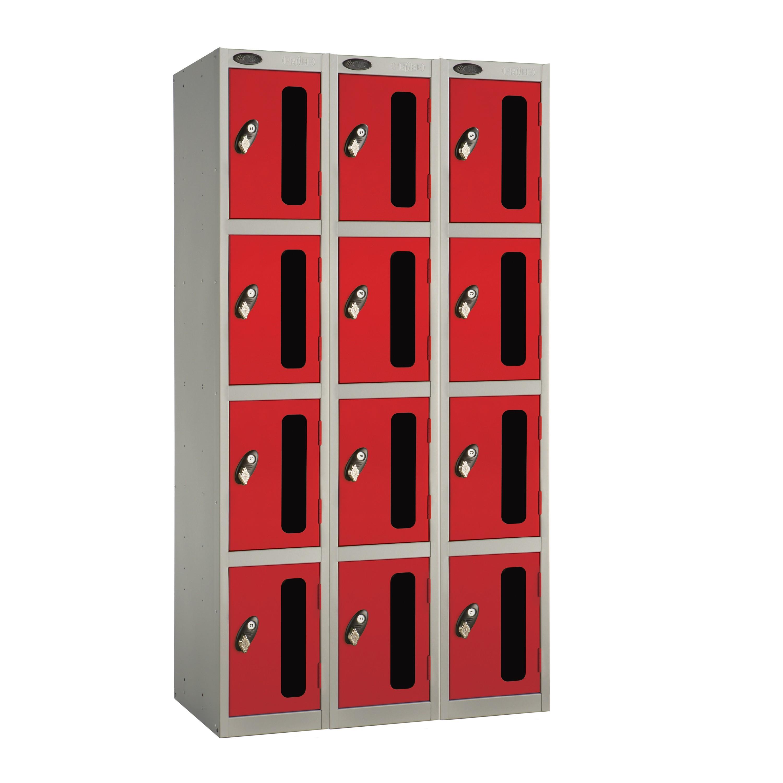 Four Doors Vision Panel Locker - Nest of 3