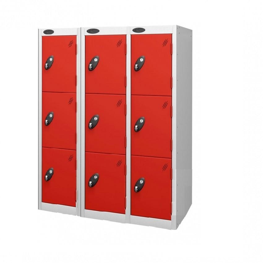 Three Doors Low Locker - Nest of 3