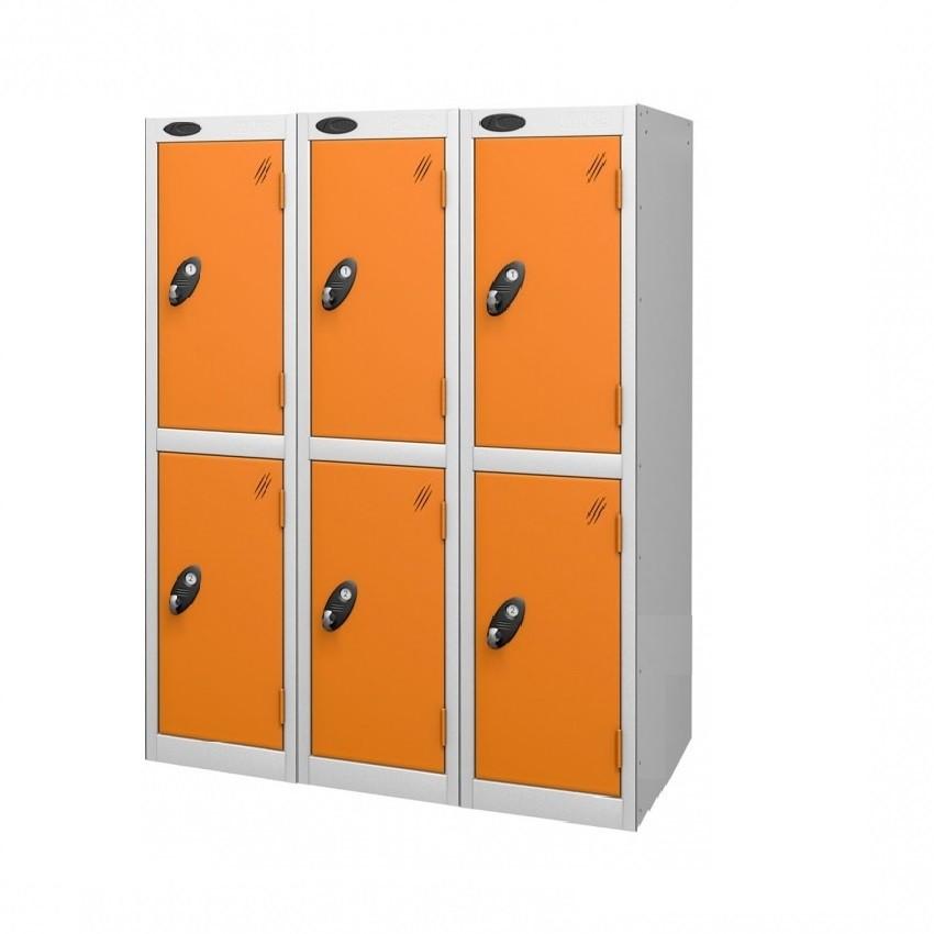 Two Doors Low Locker - Nest of 3