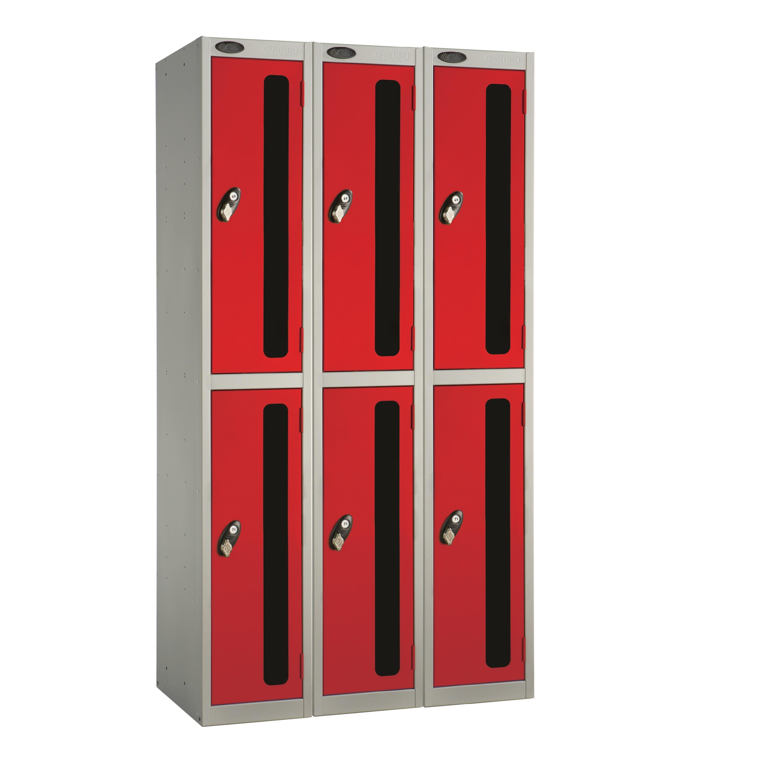 Two Doors Vision Panel Locker - Nest of 3
