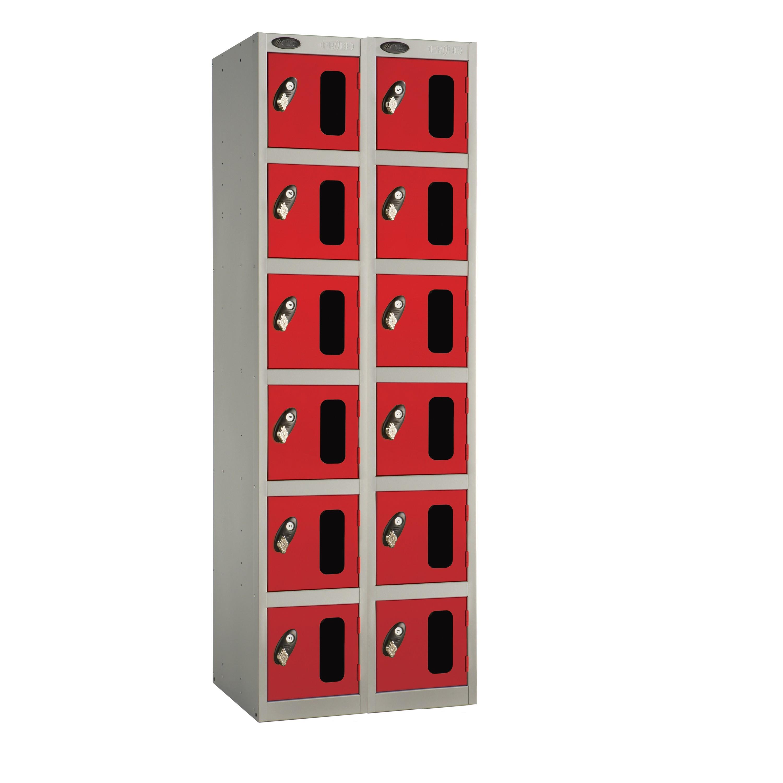 Six Doors Vision Panel Locker - Nest of 2