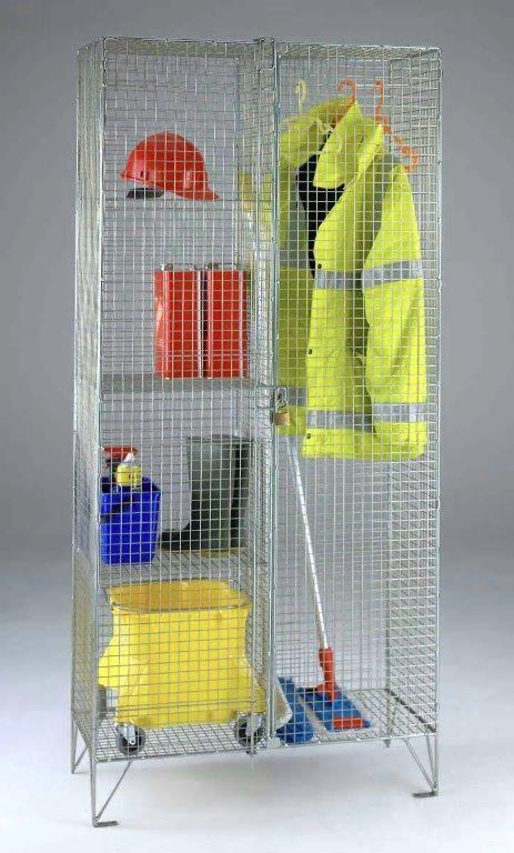 Wire Mesh Janitor Cupboard