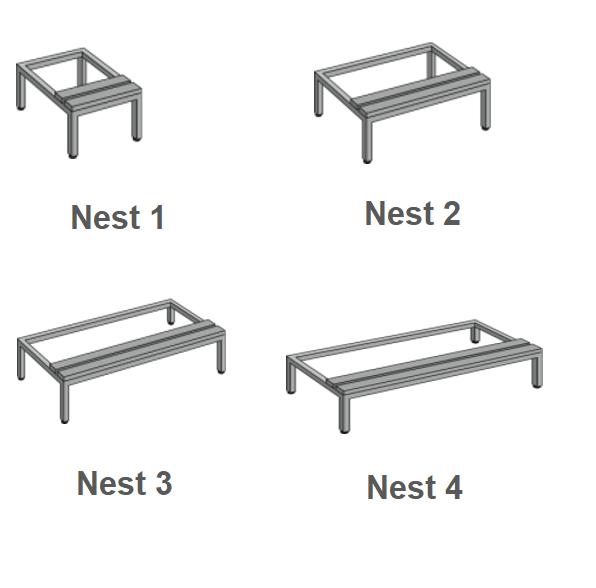Plain Feet 450mm (H) Seat Bench Stand