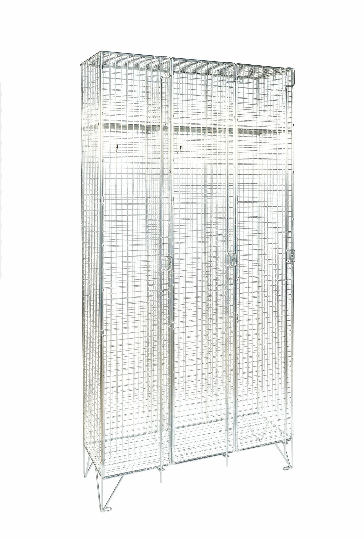 Premium Mesh Single Door Locker - Nest of 3