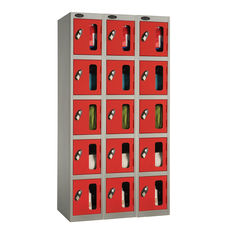 Five Doors Vision Panel Locker - Nest of 3