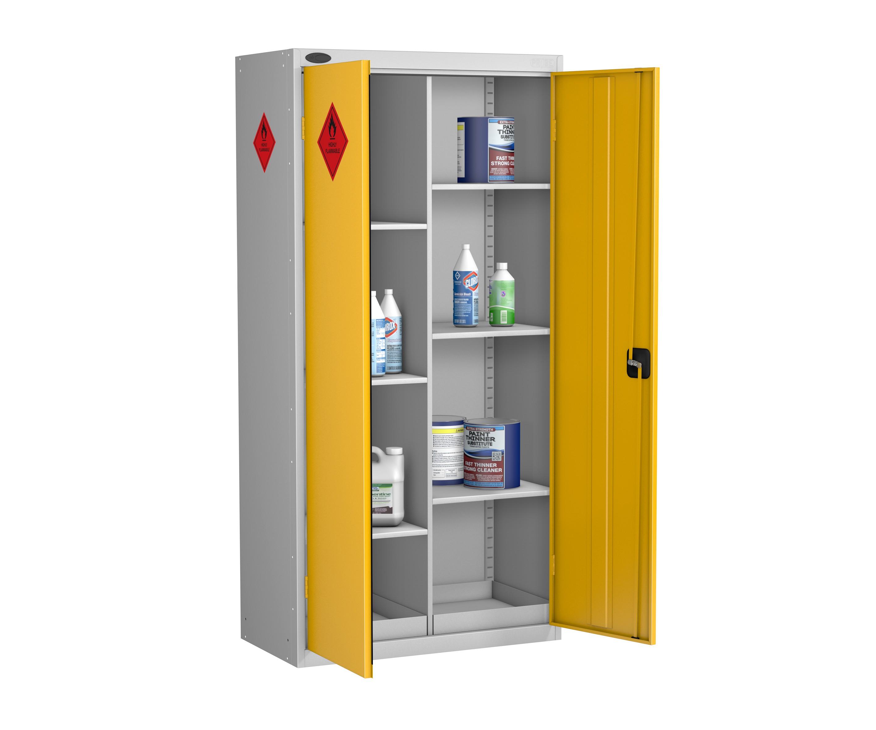 Eight Compartment Hazardous Cabinet