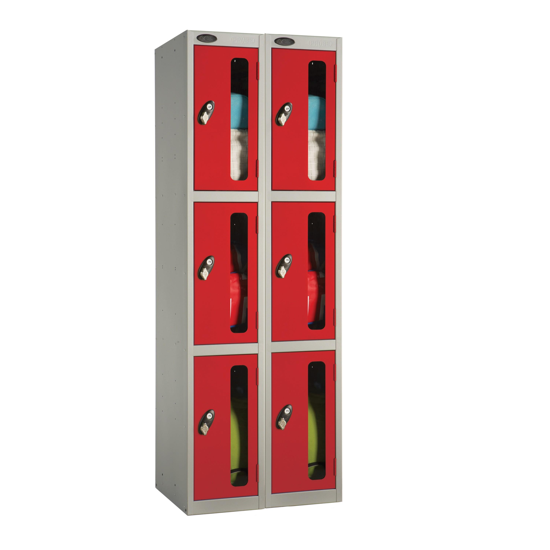 Three Doors Vision Panel Locker - Nest of 2