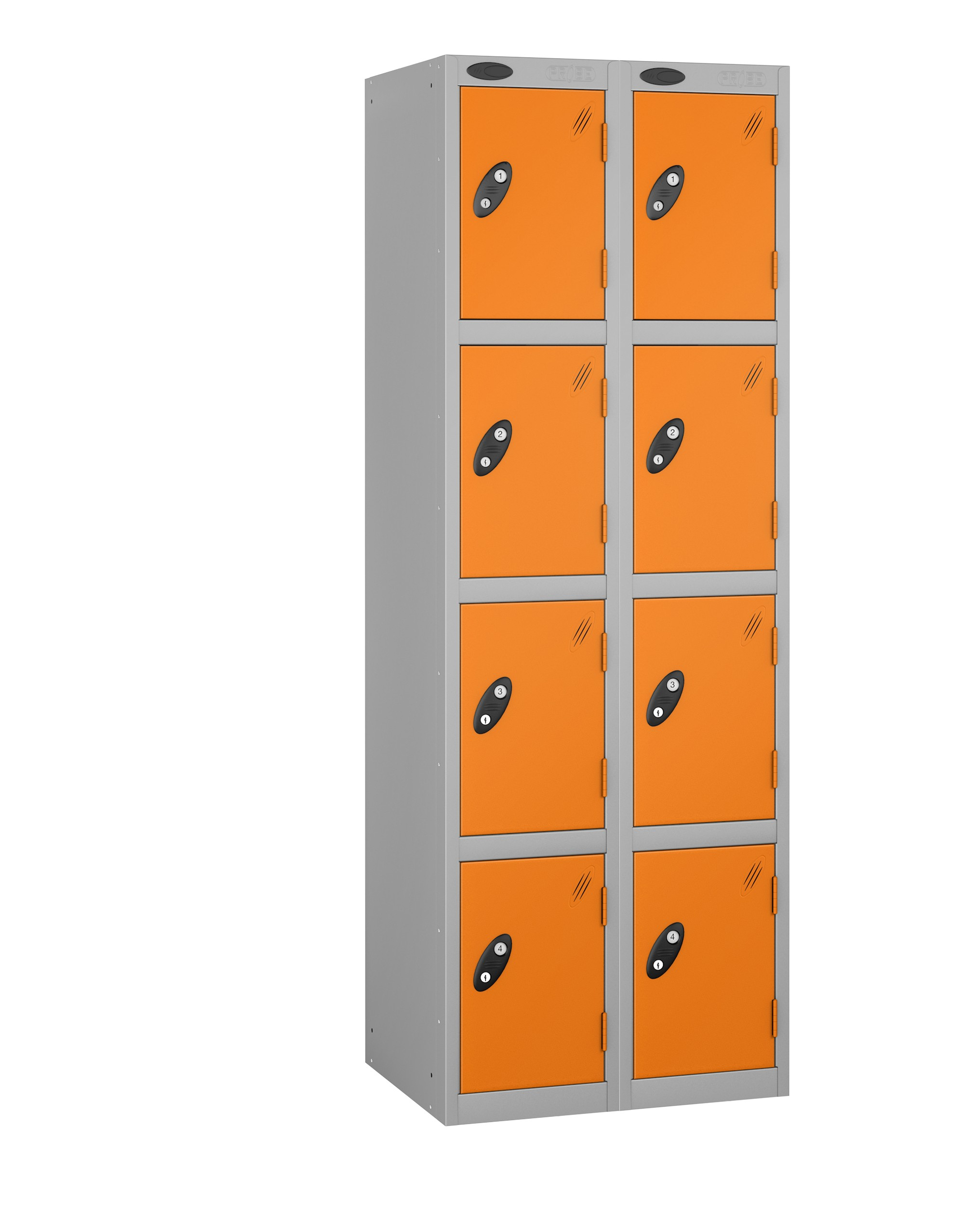 Colour Range Four Doors Locker - Nest of 2