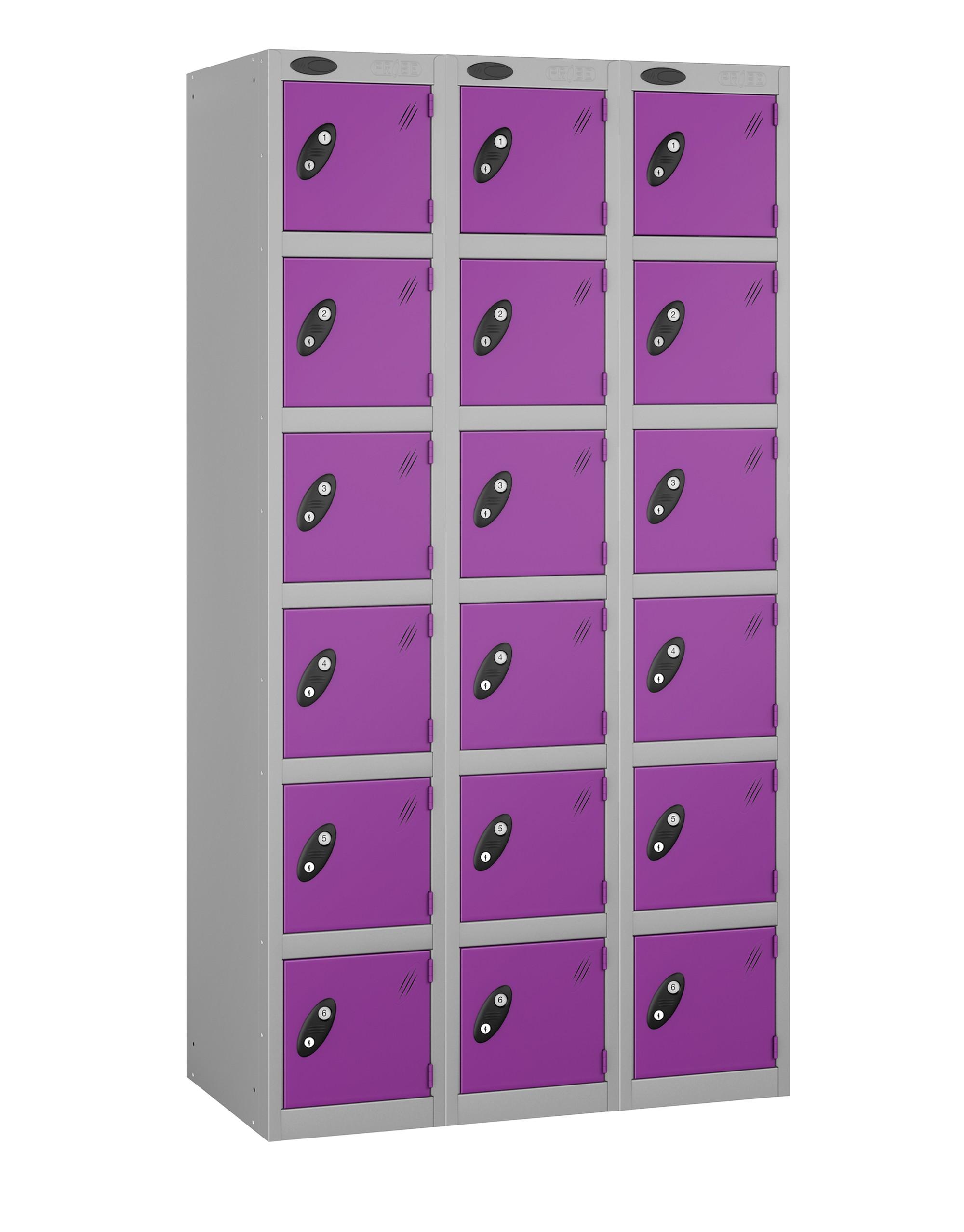 Colour Range Six Doors Locker - Nest of 3