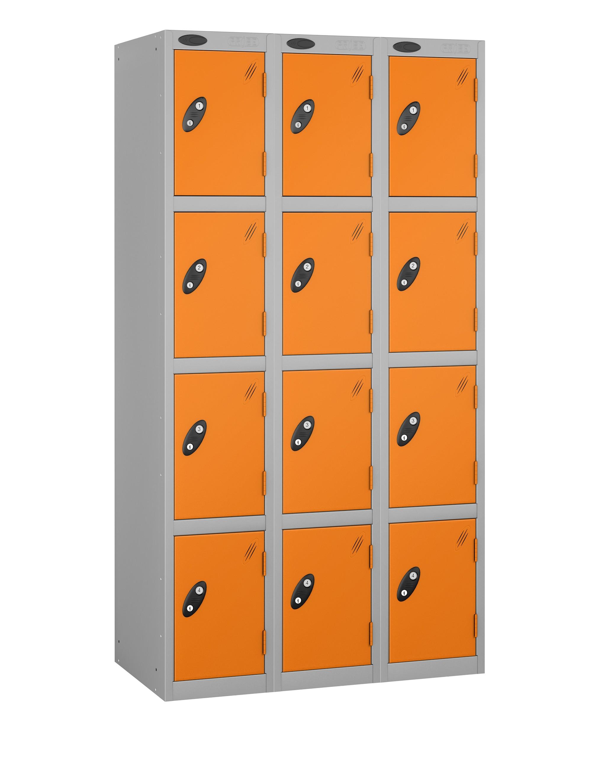 Colour Range Four Doors Locker - Nest of 3