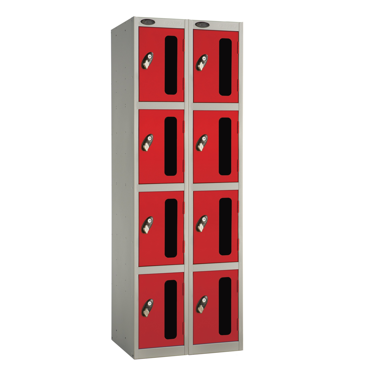 Four Doors Vision Panel Locker - Nest of 2