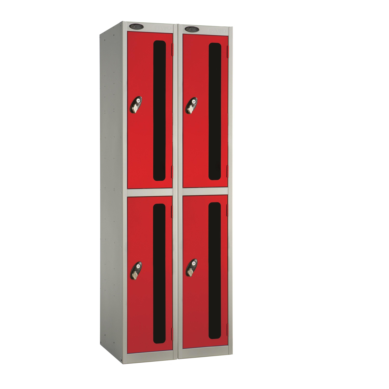 Two Doors Vision Panel Locker - Nest of 2