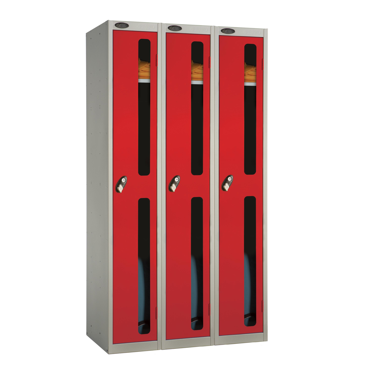 One Door Vision Panel Locker - Nest of 3